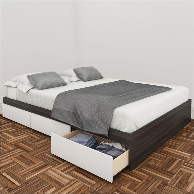 White Queen Storage Bed 800 x 800
