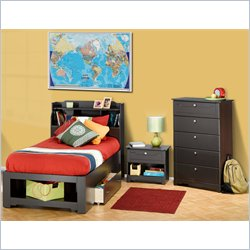 Nexera Dixon 4 Piece Bedroom Set in Espresso