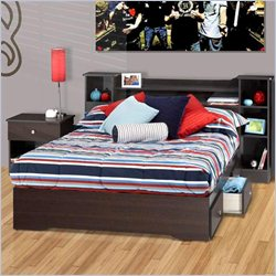 Nexera Pocono Full 3 Piece Bedroom Set in Espresso