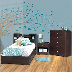Nexera Pocono Twin 4-Piece Bedroom Set in Espresso