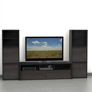 3-Piece Entertainment Center in Ebony