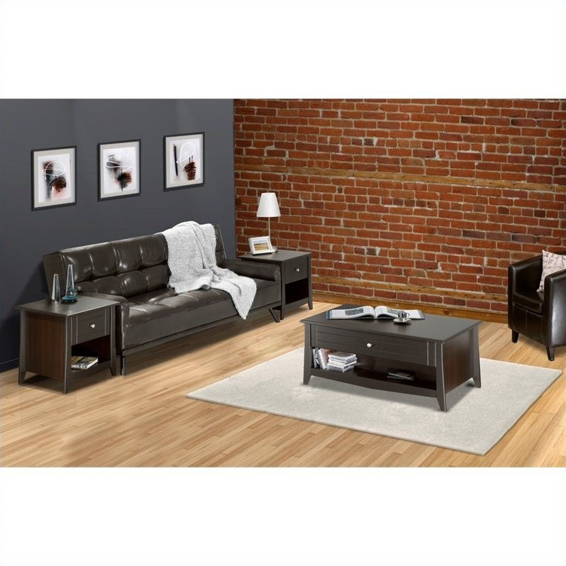 3 piece living room table set in espresso el liv pkg 3 for 3 piece living room table sets