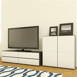 3-Piece Entertainment Center in Ebony and White