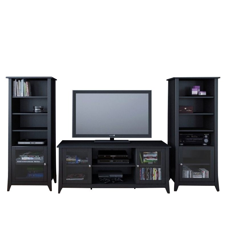 3-Piece Entertainment Package in Black