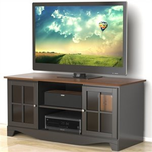 Nexera Pinnacle 54'' HEC TV Stand in Cinnamon Cherry & Black