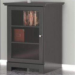 Nexera Pinnacle One Door Audio Tower in Black