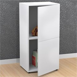 Nexera Blvd 1 Door Storage Module in White