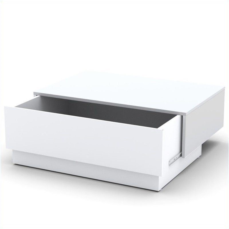 Coffee Table With Hidden Storage In White 221703