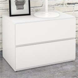Nexera Blvd Night Stand in White