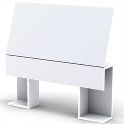 Nexera Blvd Storage Panel Headboard in White - Twin