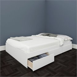 Nexera Blvd Reversible Storage Bed in White - Twin