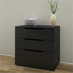 Nexera Next 3 Drawer Filing Cabinet in Black