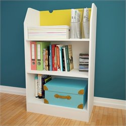 Nexera Taxi 3-Shelf Bookcase in White and Yellow