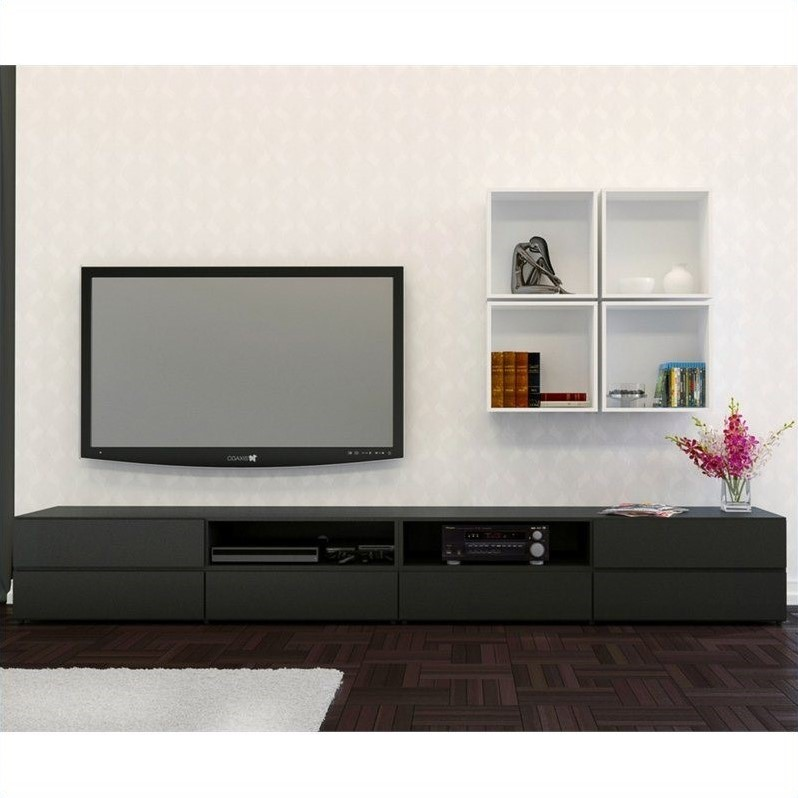Avenue 60'' TV Stand with Decorative Wall Cubes