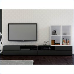 Nexera Avenue 60'' TV Stand and Open Storage Module
