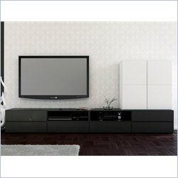 Nexera Avenue 60'' TV Stand and 1-Door Storage Module
