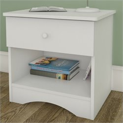 Nexera Vichy Night Stand in White