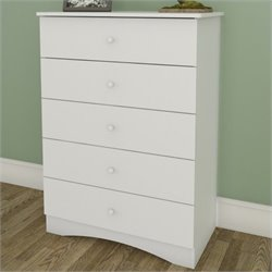 Nexera Vichy 5 Drawer Chest in White