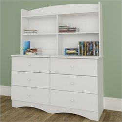 Nexera Vichy Dresser with Hutch in White