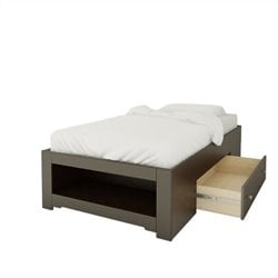 Twin Size Reversible Bed in Espresso