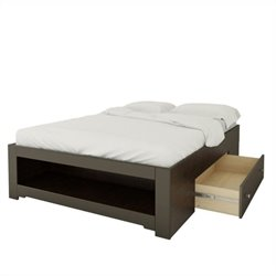 Full Size Reversible Bed in Espresso