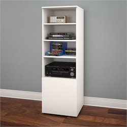 Nexera Arobas Bookcase in White and Melamine