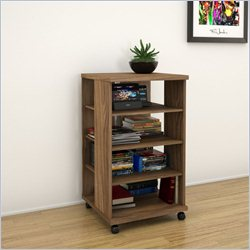 Nexera Jasper Mobile Storage Tower in Walnut