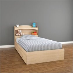 Nexera Alegria 2 Piece Twin Bedroom Set in Natural Maple