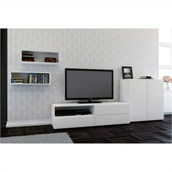 4 Piece Entertainment Set in White
