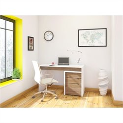 Nexera Liber-T 2 Piece Office Set in White