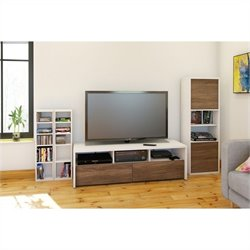 Nexera Liber-T 3 Piece Entertainment Set in White