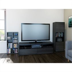 Nexera Sereni-T 3 Piece Entertainment Set in Black and Ebony