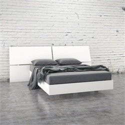 Nexera Acapella 2 Piece Full Bedroom Set in White Melamine Finish
