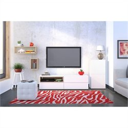 Nexera Collage 3 Piece Entertainment Set in Maple and White