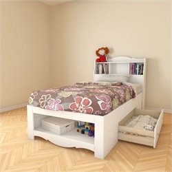 2 Piece Twin Bedroom Set in White