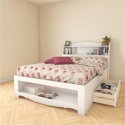 2 Piece Full Reversible Bedroom Set in White