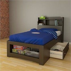 Nexera Dixon 2 Piece Twin Bedroom Set in Espresso