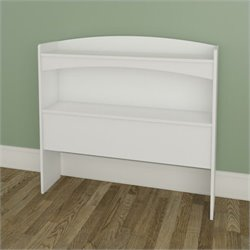 Nexera Vichy Twin Size Bookcase Headboard in White