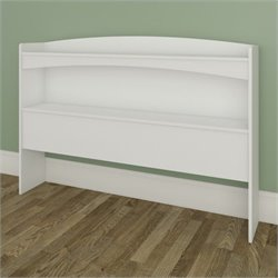 Nexera Vichy Full Size Bookcase Headboard in White