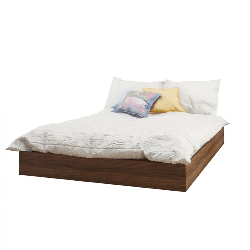 Full Size Platform Bed In Walnut 345431