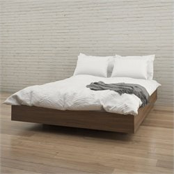 Nexera Alibi Queen Size Platform Bed in Walnut