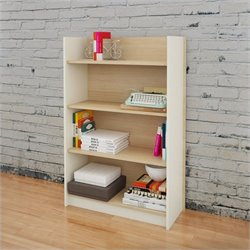 Nexera 4-Shelf Bookcase in Natural Maple