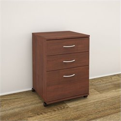 Nexera Essentials 3-Drawer Mobile Filing Cabinet in Moka
