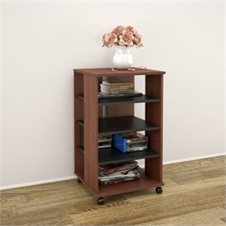 Nexera Jasper Mobile Storage Tower in Moka and Black