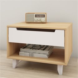 Nexera Nordik 1 Drawer Nightstand in Maple