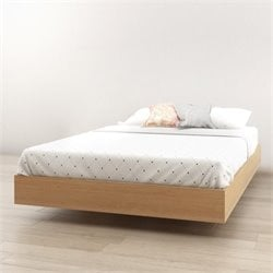 Nexera Nordik Full Platform Bed in Maple