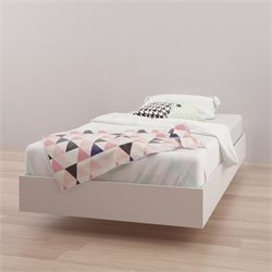 Twin Size Platform Bed in White