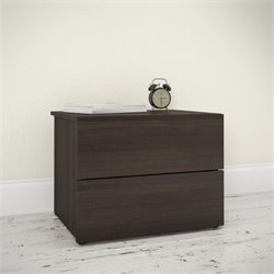 Nexera Jetset 2 Drawer Nightstand in Ebony