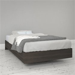 Nexera Momentum Twin Size Platform Bed in Ebony
