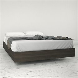 Nexera Momentum Full Size Platform Bed in Ebony